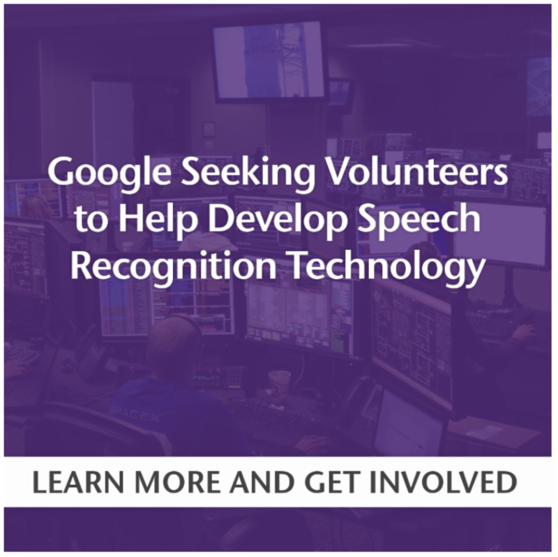 Google Seeking Volunteers To Help Develop Speech Recognition Technology