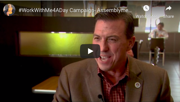 #WorkWithMe4ADay Campaign: Watch Mitzi Zwierlein Share Her Day With Assemblymember Kevin Mullin