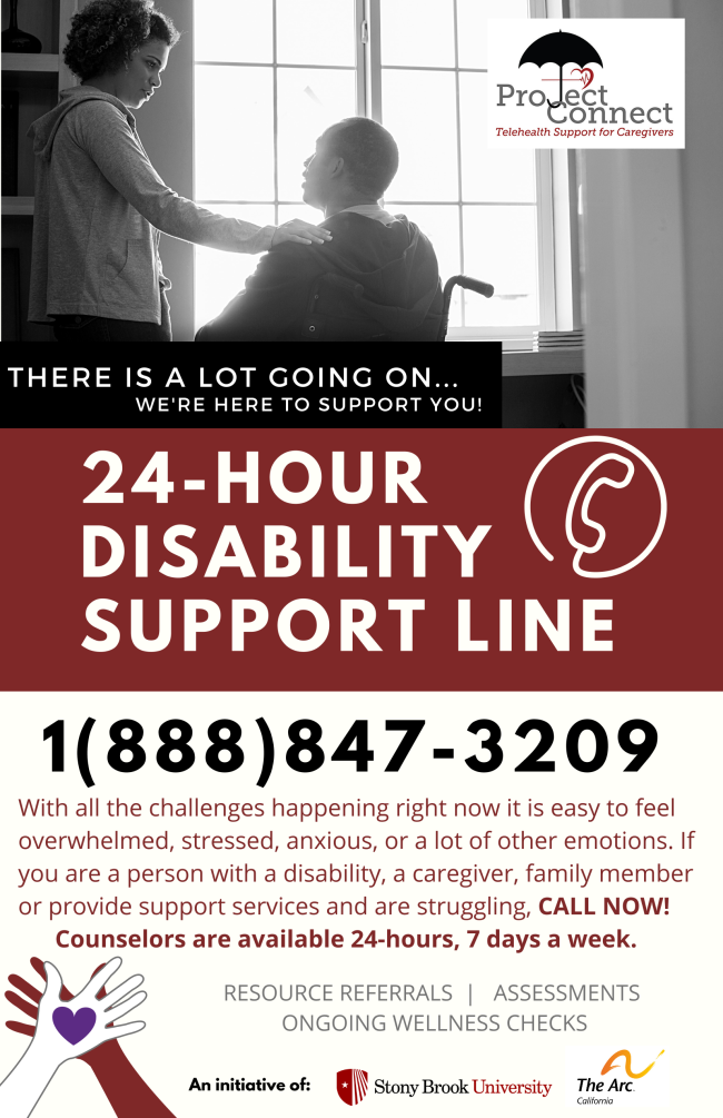 Arc and Stony Brook HelpLine Flyer