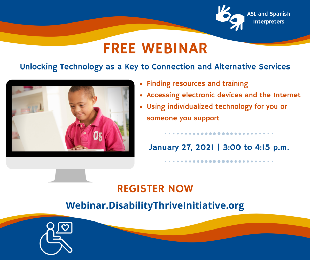 Disability Thrive Initiative Webinar
